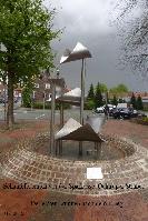 Buergerverein Dinkelaue Gronau Bilder:  2015 05-06 Wasser fliesst wieder Sparkassenbrunnen